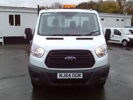 Ford Transit T350 MWB Tipper tdci 125ps DIESEL MANUAL WHITE (2014)