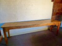 Original Victorian Twin Plank Pine Table (8 FT)