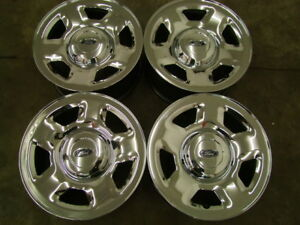 "4-17"" 6 BOLTx135MM GENUINE FORD CHROME TRUCK RIMS"