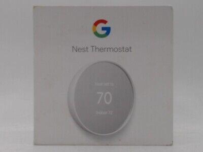 Google Nest Programmable Wi-Fi Thermostat GA01334-US - Snow - New Open Box