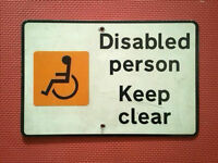 Disabled person Keep clear Car parking space Aluminium sign