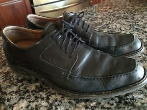 Mens' Quality Black Leather ECCO Shoes