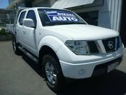2009 Nissan Navara D40 ST White 5 Speed Automatic Utility Edwardstown Marion Area Preview
