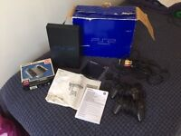 Sony Playstation 2 - original box, two controllers and controller for use as DVD player