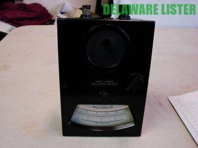 Vintage Sensitive Research Inst. Model J 71919 Dc Millivoltmeter Bakelite