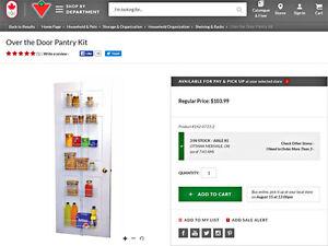 Pantry Door Shelving organizer Kit