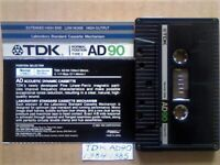 TDK AD 90 ACCOUSTIC DYNAMIC CASSETTE TAPES 1984-1985 JOB LOT OR SOLO AD90