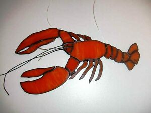 stained glass suncatcher lobster