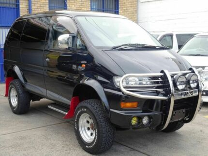 2002 Mitsubishi Delica Spacegear Lift Kit Black 4 Speed Automatic Wagon Caringbah Sutherland Area Preview