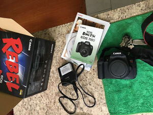 Canon T5i DSLR camera with 18-55mm and 50mm lens...