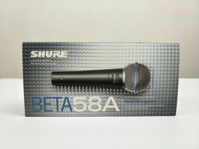 SHURE BETA 58A Supercardioid Dynamic Microphone With High Output Neodymium
