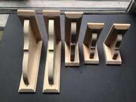 Pine Wood Brackets used for shelving/storage