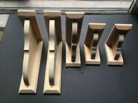 Pine Wood Brackets used for shelving/storage