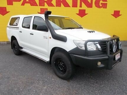 2013 Toyota Hilux KUN26R MY12 SR Double Cab White 5 Speed Manual Utility Winnellie Darwin City Preview