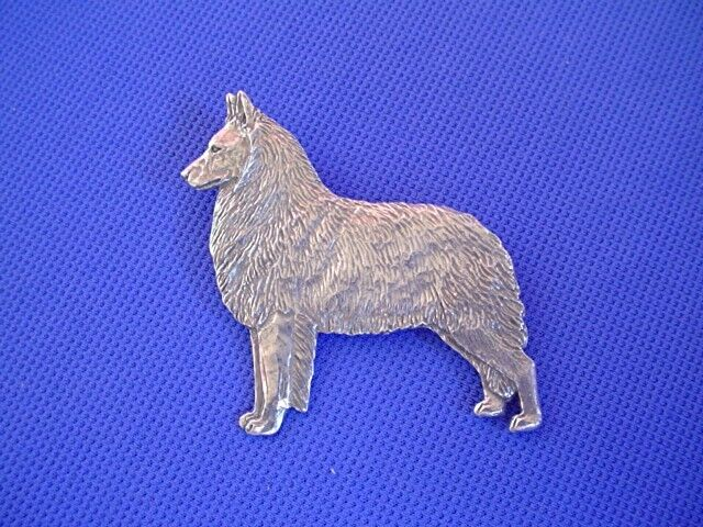 Belgian Tervuren STANDING pin #48B Pewter Herding Dog Jewelry by Cindy A. Conter
