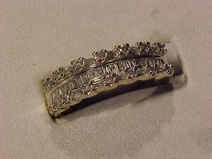 #926-10K Y/W/Gold DIAMOND (.52 carat) ANNIVERSARY BAND-APPRAISED $1,650.00-Size 9 5/8-SALE-$495.00-AcceptEBANK TRANSFER