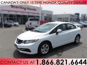 2013 Honda Civic Sdn LX | 1 OWNER | NO ACCIDENTS | LOW PRICE