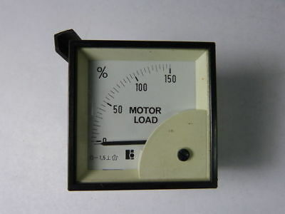 Motor Load 0-150 Motor Load Scale Panel Meter Used