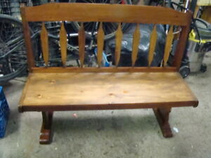 Custom made solid pine bench