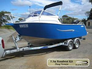 5.3m aluminium plate boat cuddy cab run about bare hull only Carrum Downs Frankston Area Preview