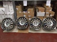 "4 x New Racing Dynamic 20"" Equinox II Hyper Silver Alloy Wheels"
