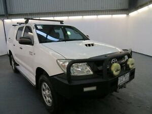 2010 Toyota Hilux KUN26R MY11 Upgrade SR (4x4) Glacier White 4 Speed Automatic Dual Cab Pick-up Albion Brimbank Area Preview