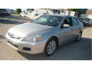 2007 HONDA ACCORD -TOP OF THE LINE *  LEATHER * SUNROOF * V6