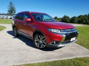 2017 Mitsubishi Outlander ZK MY17 LS 4WD Red 6 Speed Constant Variable Wagon Gympie Gympie Area Preview