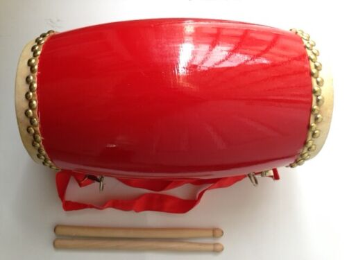 ORIENTAL CHINESE RED DRUM PERFORMANCE MUSICAL INSTRUMENT