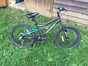Nakamura Dropp 20 inch kids full suspension mountain bike