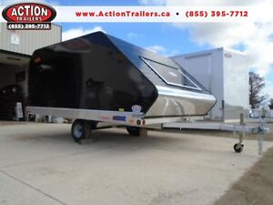 CLAM SHELL TRAILER - PRO STAR 12' TWO PLACE SNOWMOBILE TRAILER