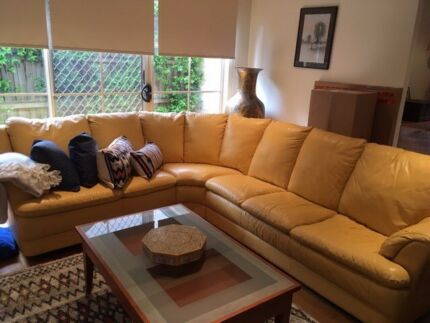 DEMIR  leather 6 seater lounge