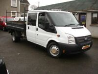 FORD TRANSIT CREW CAB 6 SEATER TIPPER 2.2 350 DRW 100 BHP (white) 2012