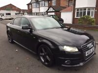 AUDI A4 2.0 TDI S LINE 170BHP, FULL SERVICE HISTORY ONLY £6500
