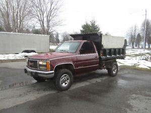 1990 Chevy 4x4 with dump box