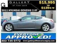 2011 Hyundai Genesis 2.0T $139 bi-weekly APPLY NOW DRIVE NOW