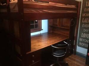 Loft bed with Desk and Drawer/Shelving Storage Ryde Ryde Area Preview
