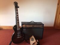 HOHNER LES PAUL Electric Guitar + Roland VGA-5 Guitar Amplifier+FREE PEDAL THROWN IN FOR QUICK SALE!