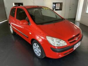 2006 Hyundai Getz TB MY06 Red 5 Speed Manual Hatchback North Toowoomba Toowoomba City Preview