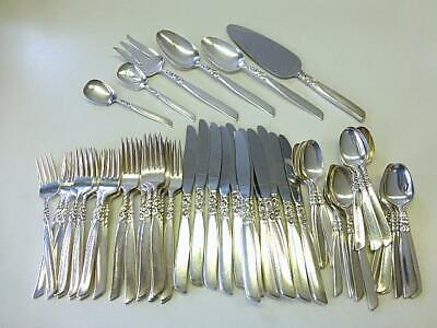 Oneida Community SOUTH SEAS Vintage 1955 Silver Plate Flatware Silverware 28pcs Set Dinner Service for 6 #A2