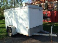5x8 Enclosed Trailer with Roof Racks (Wells Cargo)
