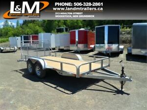NEW 2019 N&N 6X12' GALVANIZED UTILITY TRAILER