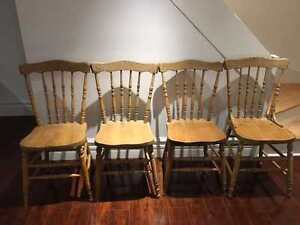 Antique kitchen chair set