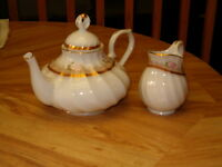 tea pot set or coffee pot  ,larger metal bowls enamelware,&more
