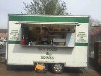 CATERING VAN BURGER TRAILER FAST FOOD BUSINESS FOR SALE