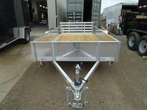 6X12 ALUMINUM UTILITY - SOLID SIDES, BI-FOLD GATE - SPECIAL! London Ontario image 3