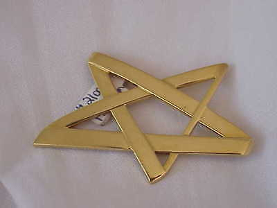 TIFFANY & CO PALOMA PICASSO 18K SOLID GOLD STAR PENDANT-BROOCH 1993