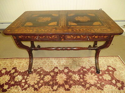 19th Century Period Antique Dutch Marquetry Hall Table
