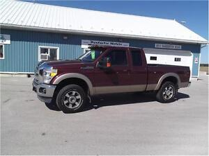 2011 Ford F-250 Lariat,4X4,LEATHER,WELL OILED LOCAL TRADE!!