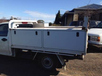 Holden Rodeo Single cab ute tray with Tradies Toolboxes